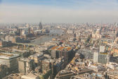 London aerial view with Thames and St Paul cathedral — Photo
