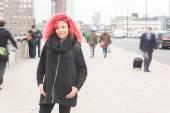 Beautiful redhair woman portrait in London — 图库照片