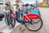 New Santander bikes in London — Stock Photo