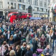Crowd at tube station in London — Stock Photo #69867395