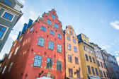 Colorful houses in Stockholm old town — Stock Photo