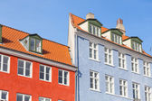 Typical colorful houses in Copenhagen old town — Foto Stock
