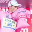 Alberto Contador wearing pink jersey — Stock Photo #73320515