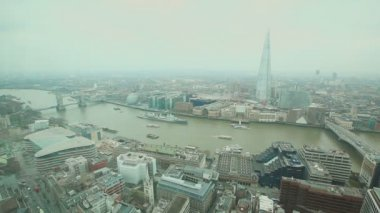 London with Tower Bridge and Thames river — Stock Video