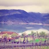 Lake Corbara — Stock Photo