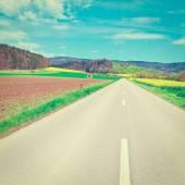 Road between Fields — Stock Photo