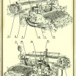 Old drawing of the Typewriter. — Stock Photo #68035137
