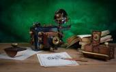 Camera steampunk — Stock Photo