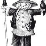 Scarecrow — Stock Vector #54536595