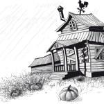 Halloween house black — Stock Vector #55070667