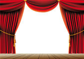 Red theater curtain — Stock Vector