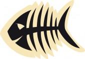 Good Fish Skeleton — Vector de stock