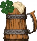ирландский цвет пивной кружки — Cтоковый вектор