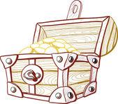 Treasure Chest — Stock Vector