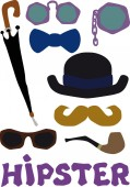 Hipster set — Stock Vector