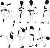 Karate bambini — Vettoriale Stock