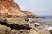 Sea coast in the ebb — Stock Photo
