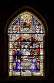 Stained-glass window in Seville cathedral, Spain — 图库照片
