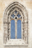 Finestra gotica — Foto Stock