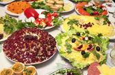 Banquet salads — Stock Photo