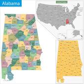 Alabama state — Stock Vector