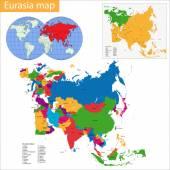 Eurasia Map — Stock Vector