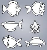 Legen sie fisch — Stockvektor