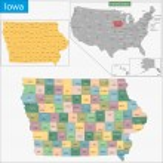 Iowa map — Stock Vector #57403939