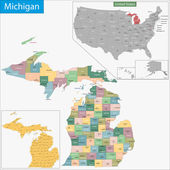 Michigan map — Stock Vector