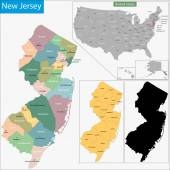 New Jersey map — Stock Vector