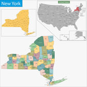 New York map — Stock Vector