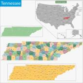 Tennessee map — Stock Vector