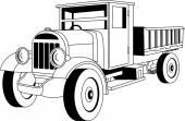 Camión vintage — Vector de stock