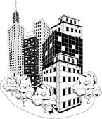 Downtown skyline — Stock Vector