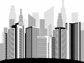 Modern metropolis — Stock Vector