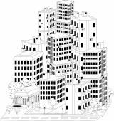 Residential quarter — Stock Vector