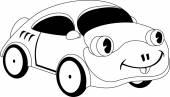 Kreslený auto — Stock vektor
