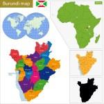 Постер, плакат: Burundi map