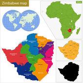 Zimbabwe map — Stock Vector