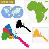 Eritrea map — Stock Vector