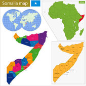 Somalia map — Stock Vector