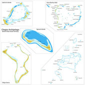 Chagos Archipelago map — Cтоковый вектор