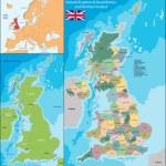 United Kingdom map — Stock Vector #66186705
