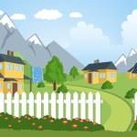 Rural landscape — Stock Vector #69854983