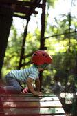Kid climber training — Stock Photo