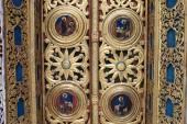 Part of a doorway church — Stok fotoğraf