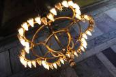 Chandelier of Hagia Sophia — Stock Photo