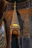 Decoration of minbar of Hagia Sophia — Stock Photo