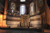 View of mihrab in Hagia Sophia — Stock Photo