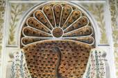 Fragment of peacock fountain — Stock Photo